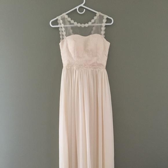 Dresses Cream Lace Prom Dress With Mesh Poshmark
